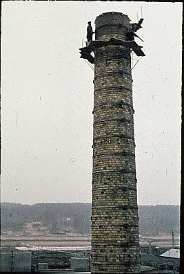 Reparation av gamla skorsten