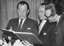 Direktör Per Hemberg, Verkställande Direktör Knut Laurin, Direktör Lennart Hanserud.